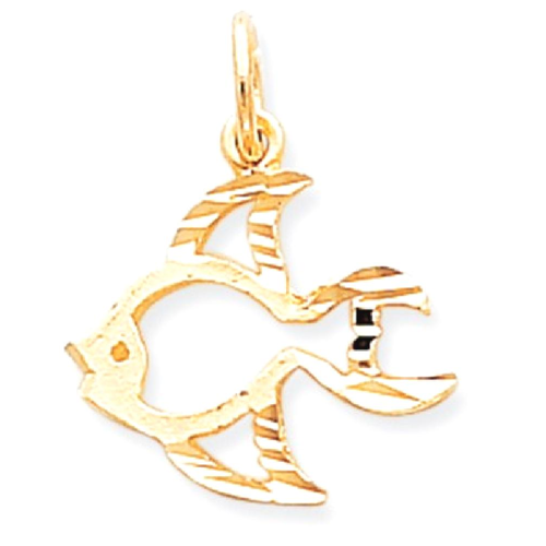 Smart 10k Yellow Gold Fish Charm Choice Materials Fine Jewelry Fine Charms & Charm Bracelets