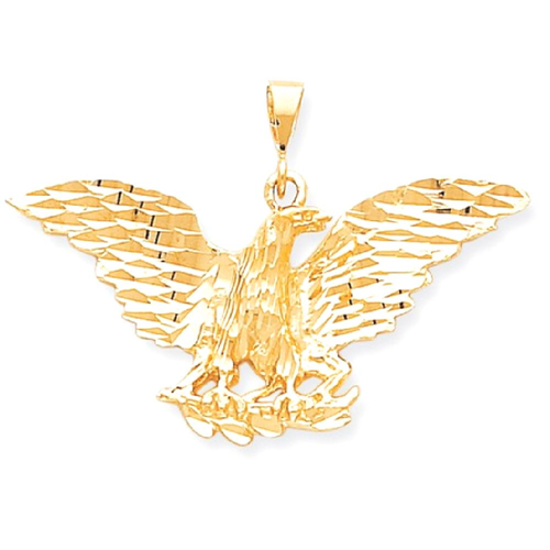 Icecarats 10k yellow gold eagle pendant charm necklace bird icecarats 10k yellow gold eagle pendant charm necklace bird aloadofball Choice Image