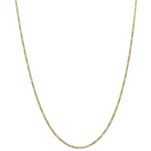 IceCarats 10k Yellow Gold 1.75mm 30 Inch Link Figaro Chain Necklace