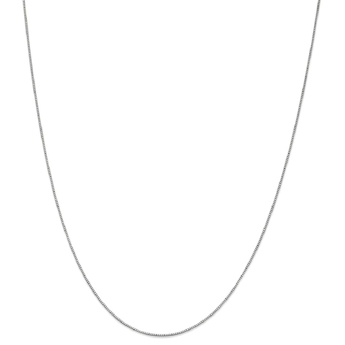 IceCarats 10k White Gold .7mm Link Box Chain Necklace 18 Inch