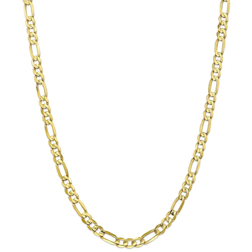 IceCarats 10k Yellow Gold 6mm Concave Link Figaro Necklace Chain