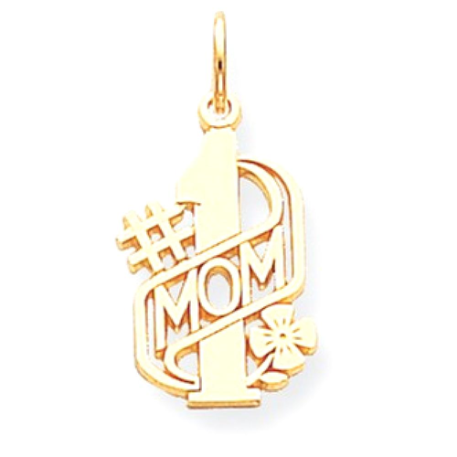 IceCarats 10k Yellow Gold Mom Pendant Charm Necklace Special Person