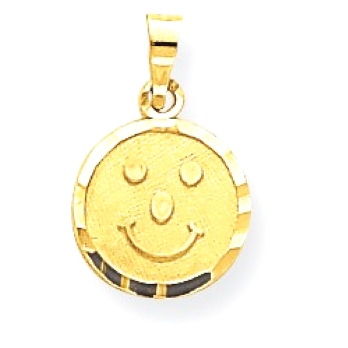 Icecarats 10k yellow gold smiley face pendant charm necklace icecarats 10k yellow gold smiley face pendant charm necklace necklaces best buy canada aloadofball