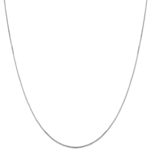 IceCarats 14k White Gold 1 Mm Oct. Sparkle Box Chain Octagonal