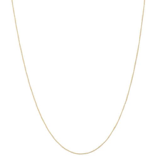 IceCarats 14k Yellow Gold .5 Mm Carded Link Curb Chain Necklace 24 Inch