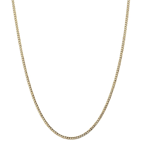 IceCarats 14k Yellow Gold 2.5mm Curb Cuban Link Chain Necklace 20 Inch