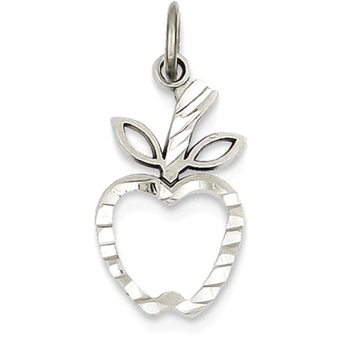 Icecarats 14k white gold apple pendant charm necklace career icecarats 14k white gold apple pendant charm necklace career professional teacher necklaces best buy canada aloadofball Image collections