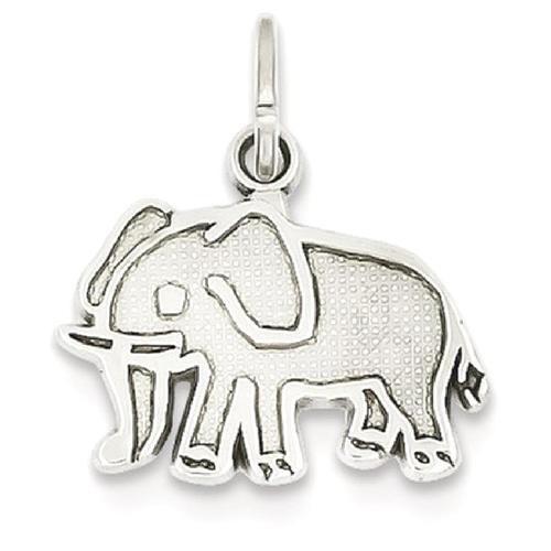 Icecarats 14k white gold elephant pendant charm necklace animal icecarats 14k white gold elephant pendant charm necklace animal necklaces best buy canada aloadofball Choice Image