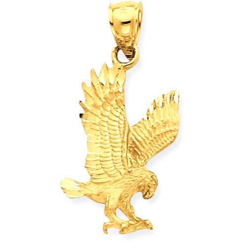 Icecarats 14k yellow gold eagle pendant charm necklace bird icecarats 14k yellow gold eagle pendant charm necklace bird necklaces best buy canada aloadofball Choice Image