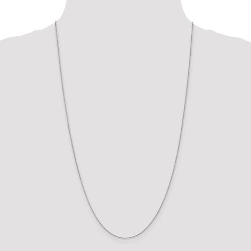 14k White Gold 0.80mm Spiga Pendant Chain