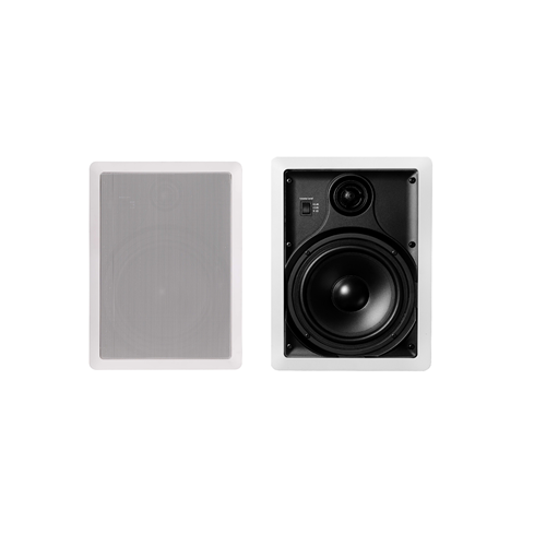 "Dynamic Audio Labs - 6-1/2"" Architectural In-Wall Speaker (Pair) - White"