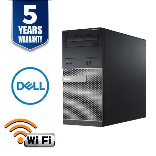 DELL OPTIPLEX 9010 MT I5 3470 3.2 GHZ 4.0 GB 250GB DVD/RW WIN10 PRO 5YR WTY USB WIFI- Refurbished