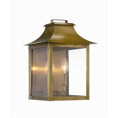 manchester 2 light outdoor aged brass light fixture outdoor