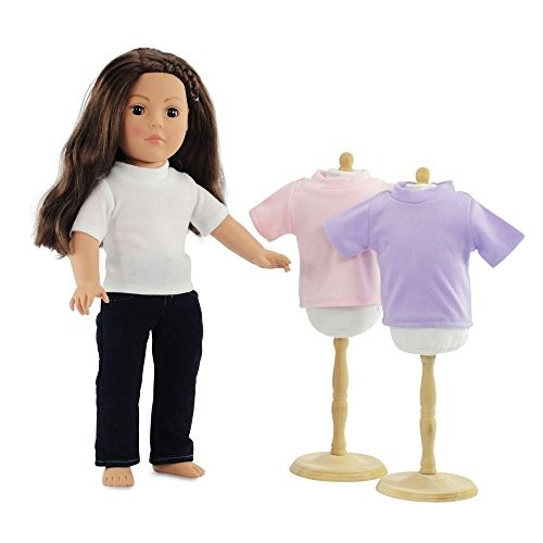 18 Inch Doll Clothes Skinny Jeans & Scarf Outfit Fits 18 American Girl Dolls by Emily Rose Doll Clothes Gift-boxed