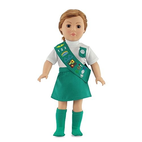 8a3c21d02 Doll Outfit Similar to Junior Girl Scout with SOCKS