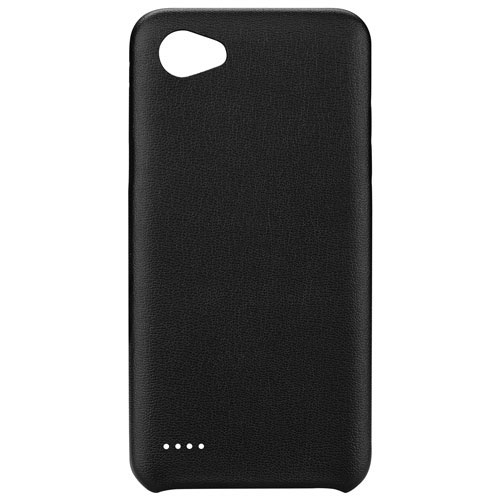 Blu Element Velvet Touch Fitted Soft Shell Case for LG Q6 - Black