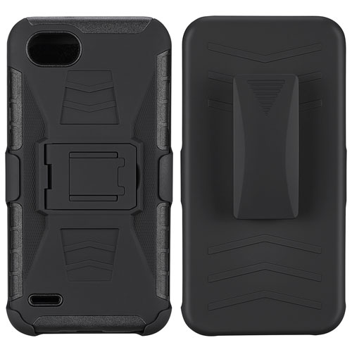 Blu Element Hardcase and Holster for LG Q6 - Black