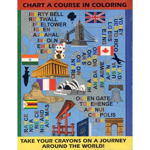 Around the World Magic Coloring Book Mind Reading Trick - Easy ...