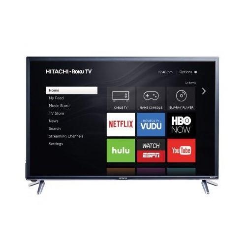 HITACHI 43 INCH 1080P 60 HZ LED ROKU SMART TV (43R5)-REFURBISHED