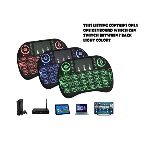 2.4Ghz Wireless Mini Keyboard with TouchPad and Backlight for PC, Mac & Android TV
