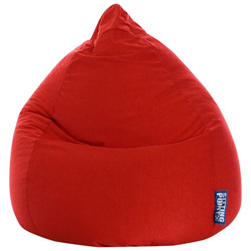 Fauteuil poire contemporain Easy - Rouge