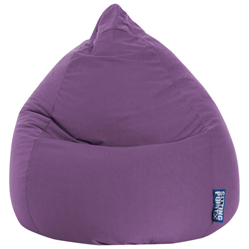 Surprising Easy Contemporary Polyester Bean Bag Chair Purple Ibusinesslaw Wood Chair Design Ideas Ibusinesslaworg