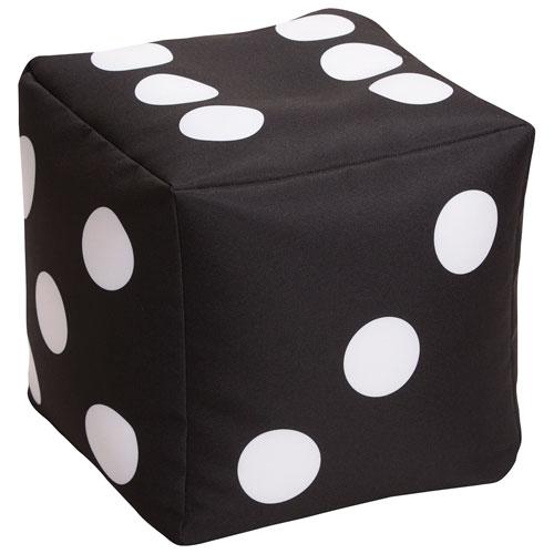 Groovy Cube Dice Contemporary Bean Bag Chair Black Evergreenethics Interior Chair Design Evergreenethicsorg
