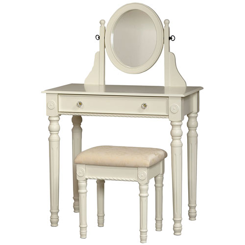 Incredible Margie Vanity Set With Mirror Stool White Andrewgaddart Wooden Chair Designs For Living Room Andrewgaddartcom