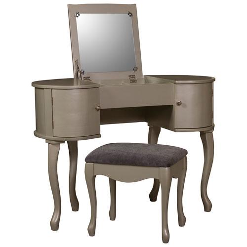 Ensemble de coiffeuse avec miroir et tabouret kiley for Miroir best buy