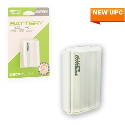 KMD 3900mAh Rechargeable Battery For Microsoft Xbox 360 White