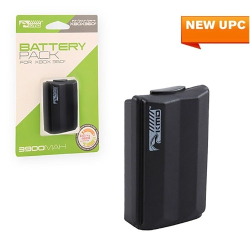 KMD 3900mAh Rechargeable Battery Pack For Microsoft Xbox 360 Black