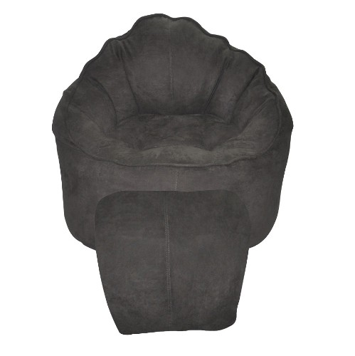 Modern Bean Bag Micro Suede Chair - Grey