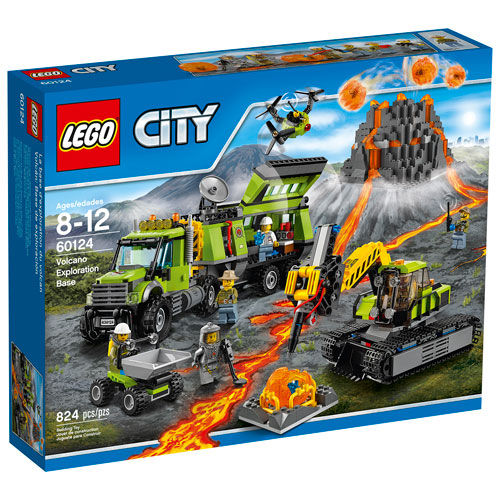 LEGO City Volcano Exploration Base - 824 Pieces (60124) : LEGO ...