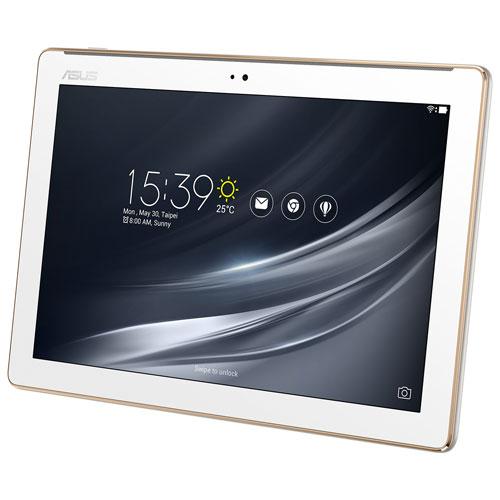 ZenPad 10,1 po 16 Go Android 7.0 d'ASUS à processeur quadruple coeur MediaTek MT8163A - Blanc