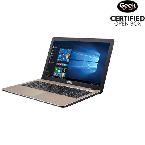"ASUS VivoBook X540YA 15.6"" Laptop - Chocolate Black/Gold (AMD A8-7410/500GB HDD/4GB RAM) - Open Box"