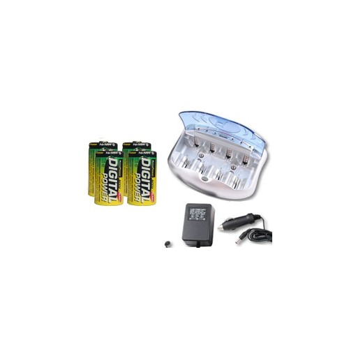 V-2299 Universal Smart Charger + 4 C AccuPower NiMH Batteries