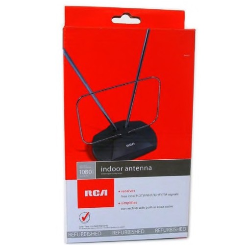 RCA universel antenne VHF/UHF/FM/HDTV intérieure - remis à neuf
