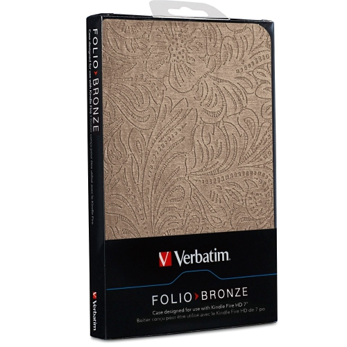 "Verbatim Folio Case for Kindle Fire HD 7"" - Bronze - 98077"