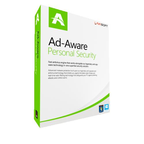 1Yr/2PC AdAware Antivirus Personal (formerly Lavasoft) Keycard