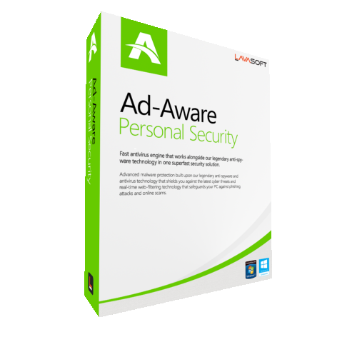 2Yr/2PC AdAware Antivirus Personal (formerly Lavasoft) Keycard