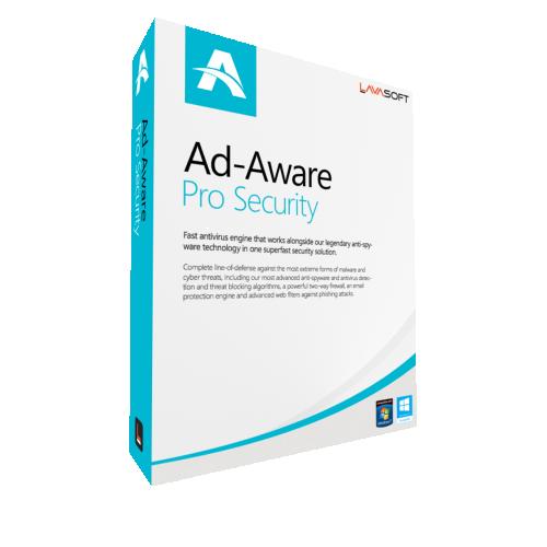 2Yr/3PC AdAware Antivirus Pro (formerly Lavasoft) Keycard