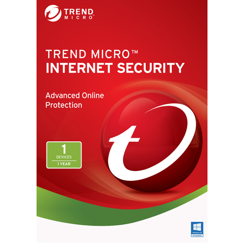 1Yr/1PC Trend Micro Internet Security (2017) Keycard