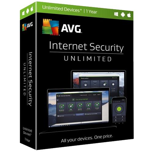 1Yr/Unlimited PC -AVG Internet Security Global Keycard