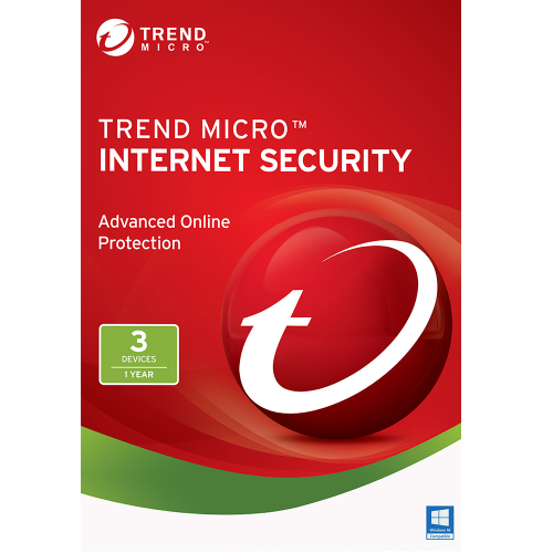 1Yr/3PC Trend Micro Internet Security (2017) Keycard