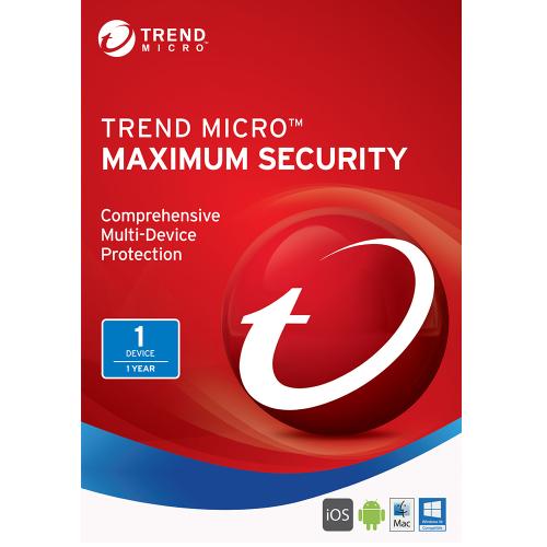1Yr/1PC Trend Micro Maximum Security (2017) Keycard