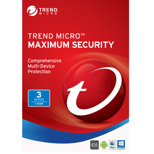 1Yr/3PC Trend Micro Maximum Security (2017) Keycard