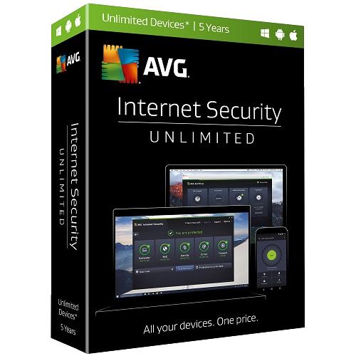 5Yr/Unlimited PC AVG Internet Security Global Keycard