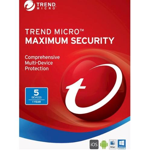 1Yr/5PC Trend Micro Maximum Security (2017) Keycard