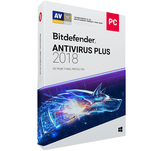 1Yr/3PC Bitdefender Antivirus Plus Keycard