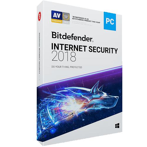 1Yr/3PC Bitdefender Internet Security Keycard